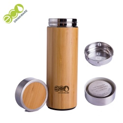 No minimum In stock Natural Stainless Steel bamboo coffee cup